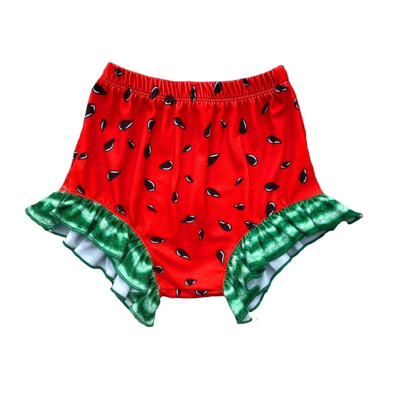 Beliebte Marke 2019 Neue Wassermelone Rüsche Baby Mädchen Shorts Casual Kleinkind Shorts Heißer Sommer Kinder Shorts Hosen Baby Windel Abdeckung Mädchen Kleidung