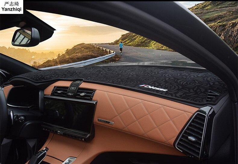 Couverture de tableau de bord de voiture tapis de bord Pad ombre de soleil éviter lumière tableau de bord tapis protecteur pour DS 2018 DS7 accessoires de voiture
