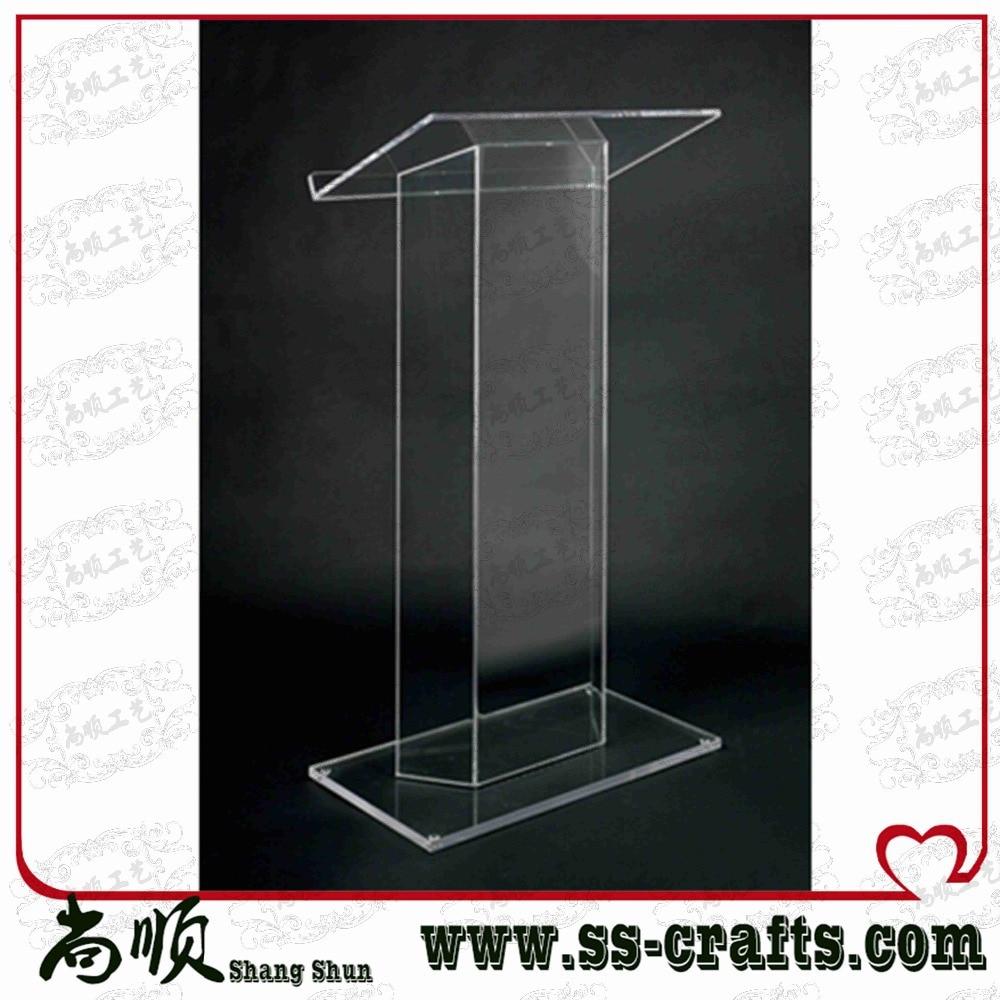 Elegant Detachable Floor Standing High Grade Cheap Acrylic Lectern Plexiglass
