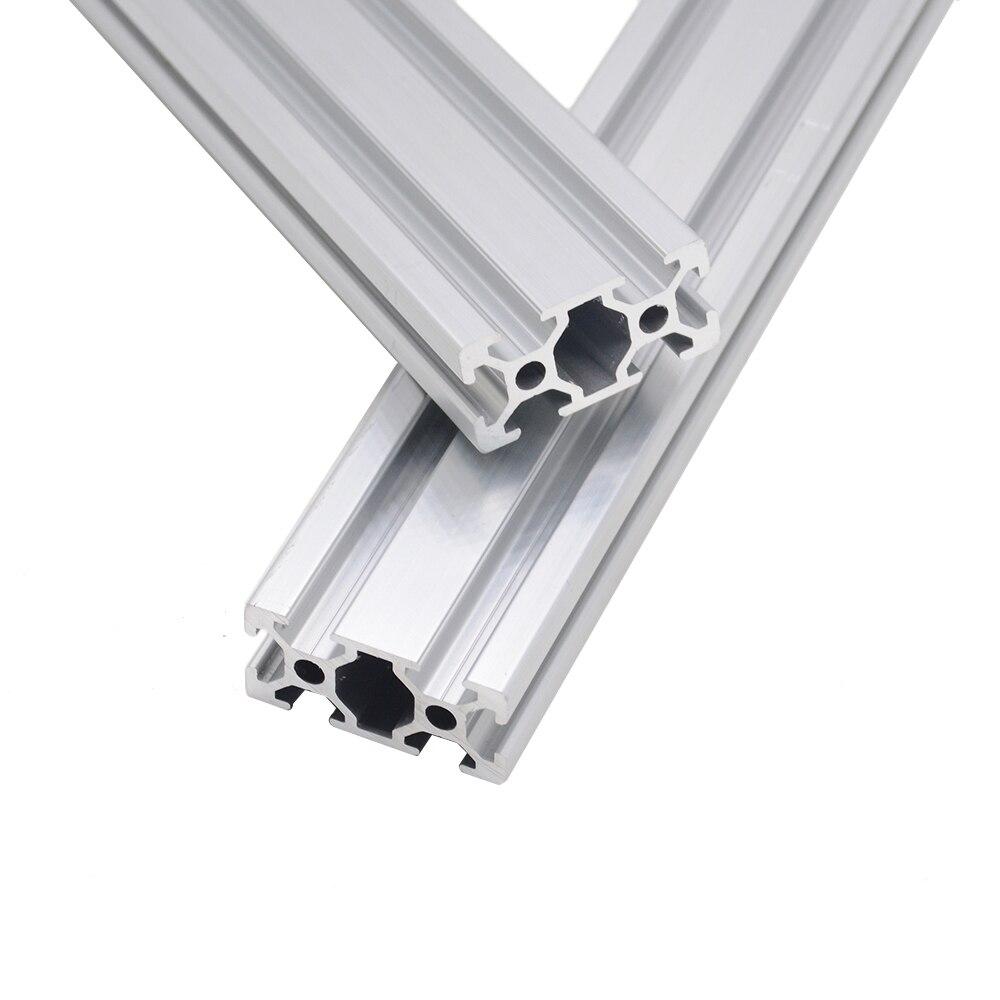 Peças de impressora cnc 3d 2040 perfil alumínio anodizado padrão europeu trilho linear perfil alumínio 2040 extrusão 2040 cnc parte