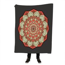 Mandala Blanket for Adults Microfiber Bohemian Plush Sherpa Throw on Bed Thin Quilt cobertor Bedding