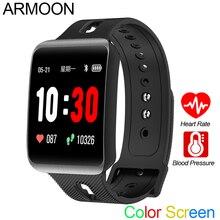 חכם ספורט שעון GT98 קצב לב גברים נשים צבע צמיד דם לחץ כושר Tracker אנדרואיד IOS פעילות שיחת הודעה להקה