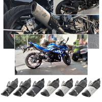 Universal 38 51 mm Exhaust Muffler Pipe Motorcycle Silencer with Removable DB Killer Dirt Bike ATV Pipe Carbon Fiber Heat Guard