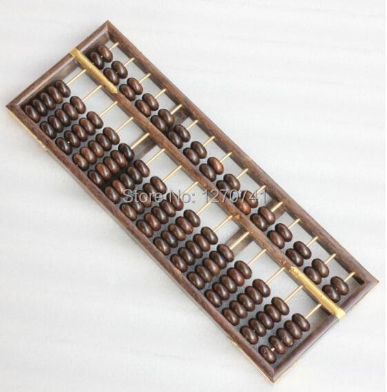 Haute qualité 15 colonne vieux bois noir boulier chinois soroban outil en mathématiques éducation pour comptable - 5
