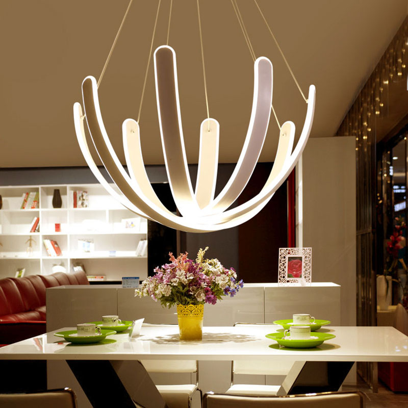 Modern Acylic Art Pendant Lights Restaurant Kitchen Abajur Lamparas Luminaire Dining Room Hanglamp Minimalist Droplight Fixtures
