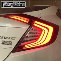 Car Styling for Honda Civic Taillights 2016 207 for Civic LED Tail Lamp Rear Lamp DRL+Brake+Park+Signal led lights