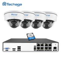 Techage H 265 8CH POE CCTV System NVR Kit 2MP 3MP 4MP Vandalproof Anti Vandal Indoor