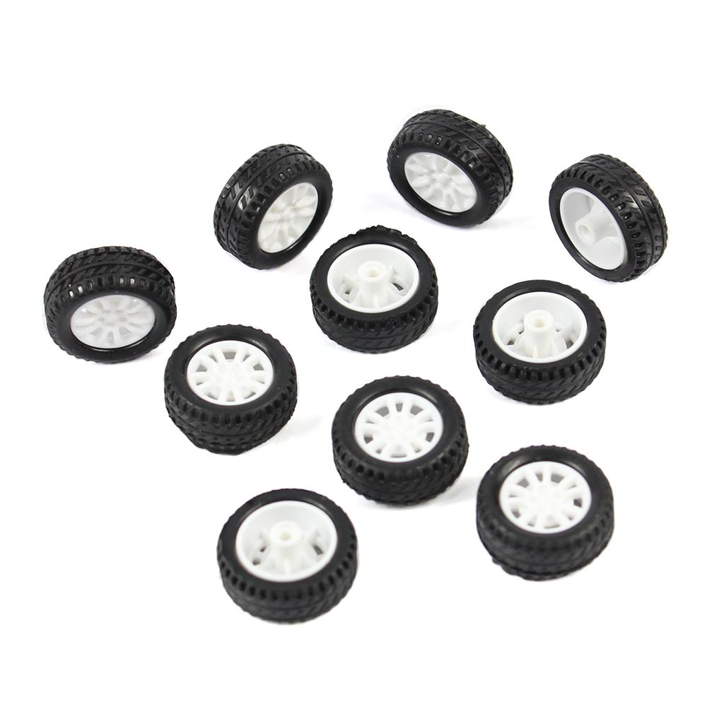 F17678 JMT 10Pcs  20*8*1.9mm  Rubber Hollow Tire Car Wheel Model Wheels DIY Toy Accessory For Car