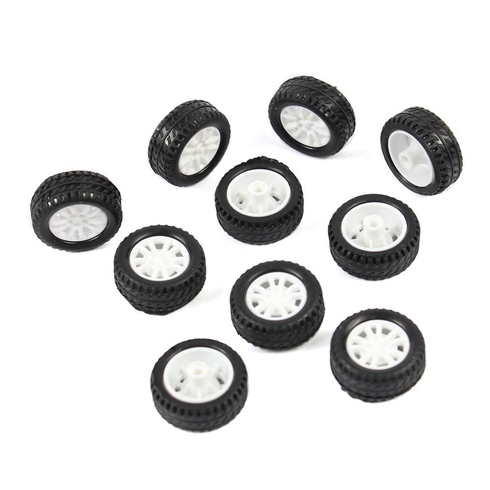 10Pcs 20*8*1.9mm Rubber Hollow Tire Car Wheel Model Wheels DIY Toy