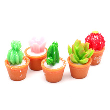 LF 10Pcs Mini Resin Succulents Decoration Crafts Flatback Cabochon Figurines & Miniatures For Home Accessories Modern