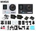 Wimius 4 k 30fps câmera de ação de esportes wi-fi ultra hd 1080 p 60fps Mini Vídeo câmera Ir À Prova D' Água 40 M pro Vídeo DVR Carro Acessórios Capacete
