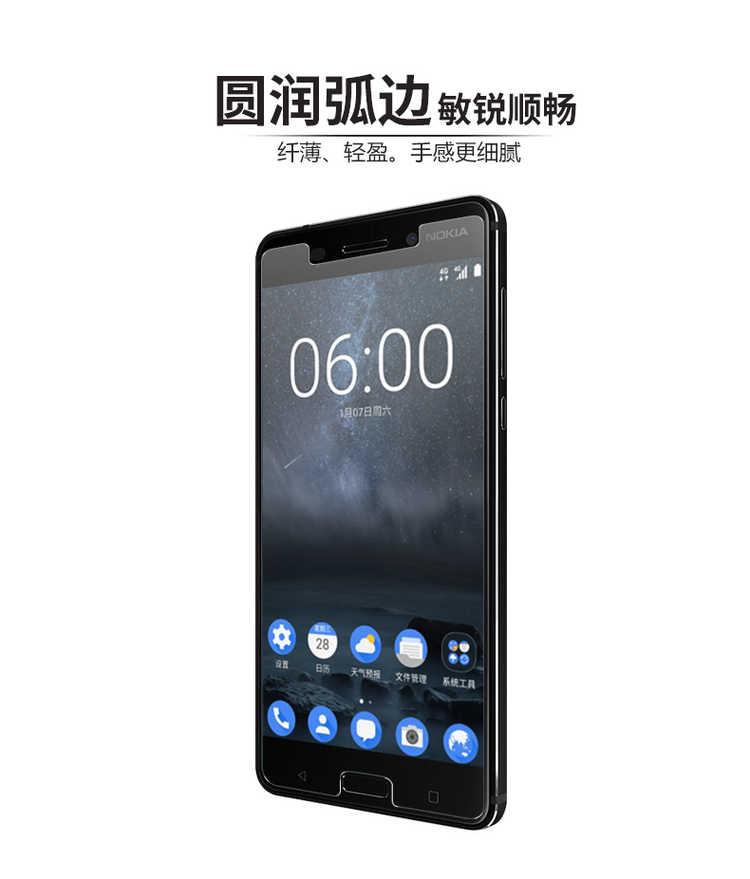Tempered Kaca untuk Nokia 8 7 6 5 3 Screen Protector 9 H 2.5D Film Perlindungan Ponsel untuk Nokia 7 6 5 3 Kaca Tempered
