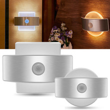 USB Rechargeable Night Light With Motion Sensor 14 LED Sensor Light Wireless Wall Lamp Light For Kids Bedroom Bedside Staircase