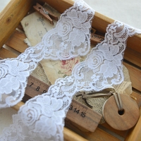 hot sale Pure white polyester lace lace doll accessories Vintage dress lace f944