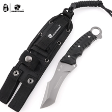 HX Outdoors Berets High Quality 440C Stainless Steel Camping Hunting Army Survival Knife Outdoor Tools 58HRC Tactical Knives охотничий нож cr classica sebenza 21 440c 58hrc 1 01968 1pcs lot