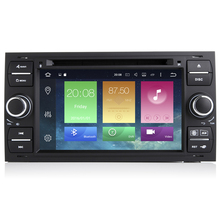 Android 6.0.1 Two Din 7 Inch Car DVD Player For Ford/Focus/Mondeo/Kuga 8 Cores 2GB RAM 32G ROM 3G/4G Wifi GPS Navigation Radio