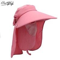 Delle Donne di Modo Oufly Pieghevole di Sun Del Cappello Protezione UV Larga Tesa Cappello Da Sole Viso Collo 360 angolo di Protezione Della Spiaggia di Estate cappello