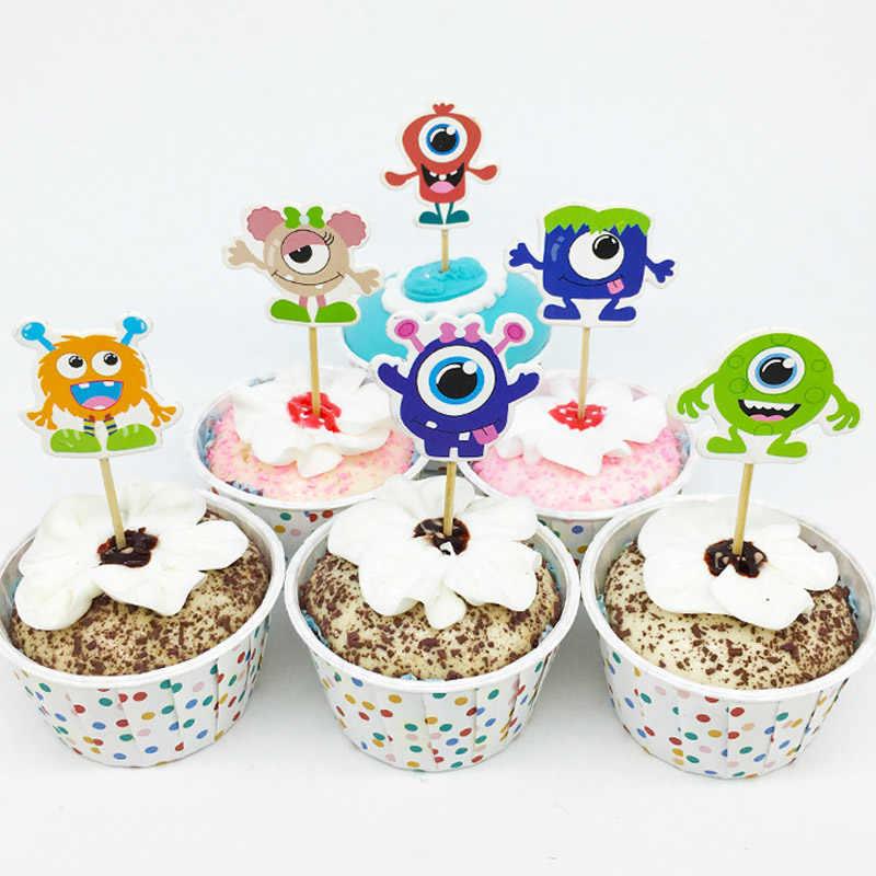 Enjoyable 24Pcs 48Pcs Cute Monster University Cupcake Topper For Cake Personalised Birthday Cards Epsylily Jamesorg