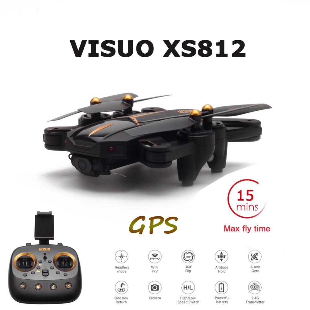 VISUO Date GPS RC Drone 2MP/5MP HD Caméra 5g WIFI FPV Maintien D'altitude Un Retour Key RC quadcopter Hélicoptère VS E58 X12 XS809S