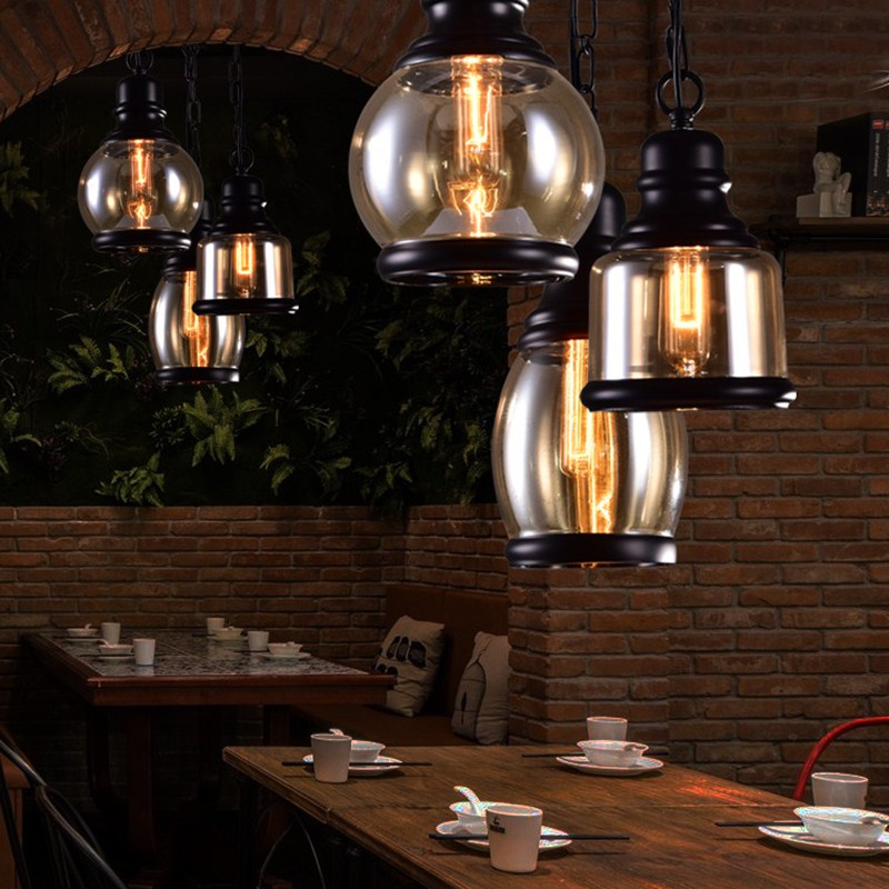 Modern pendant lamps industrial bar light amber glass antique modern pendant lamps industrial bar light amber glass antique celling lights kitchen lamp for home decoration hotel lighting in pendant lights from lights aloadofball Image collections