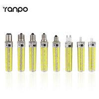 10Pcs/Lot LED Bulb SMD 5730 LED G9 G4 E11 E12 E14 E17 B15 LEDS Lamp 136Led Corn Light AC110V 220V Replace Halogen Lamp