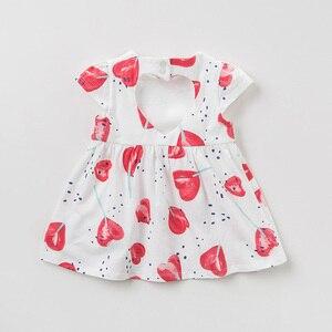 Image 3 - DBA9360 דייב bella קיץ תינוקת של נסיכת חמוד אהבת הדפסת שמלת ילדי אופנה המפלגה שמלת ילדים תינוקות לוליטה בגדים