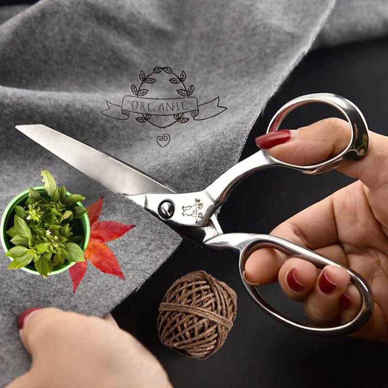Купить с кэшбэком MA LANG 8inch Stainless Steel Professional Tailor Scissors Sharp Heavy Duty Leather Scissors Sewing Scissors Sewing Shears