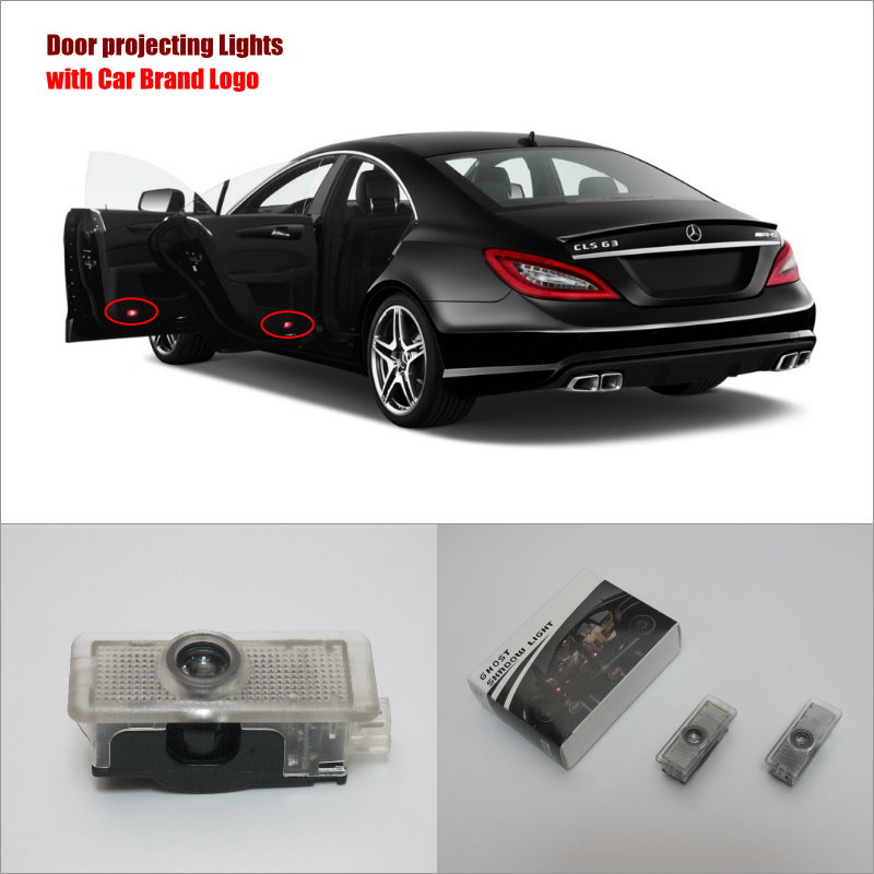 Car door ghost shadow lights for mercedes benz cls 2012 for Mercedes benz door lights