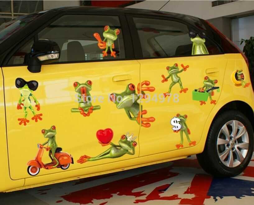 Creative cartoon funny keroppi cool frog car sticker wall for Awesome cheap wall decals for living room