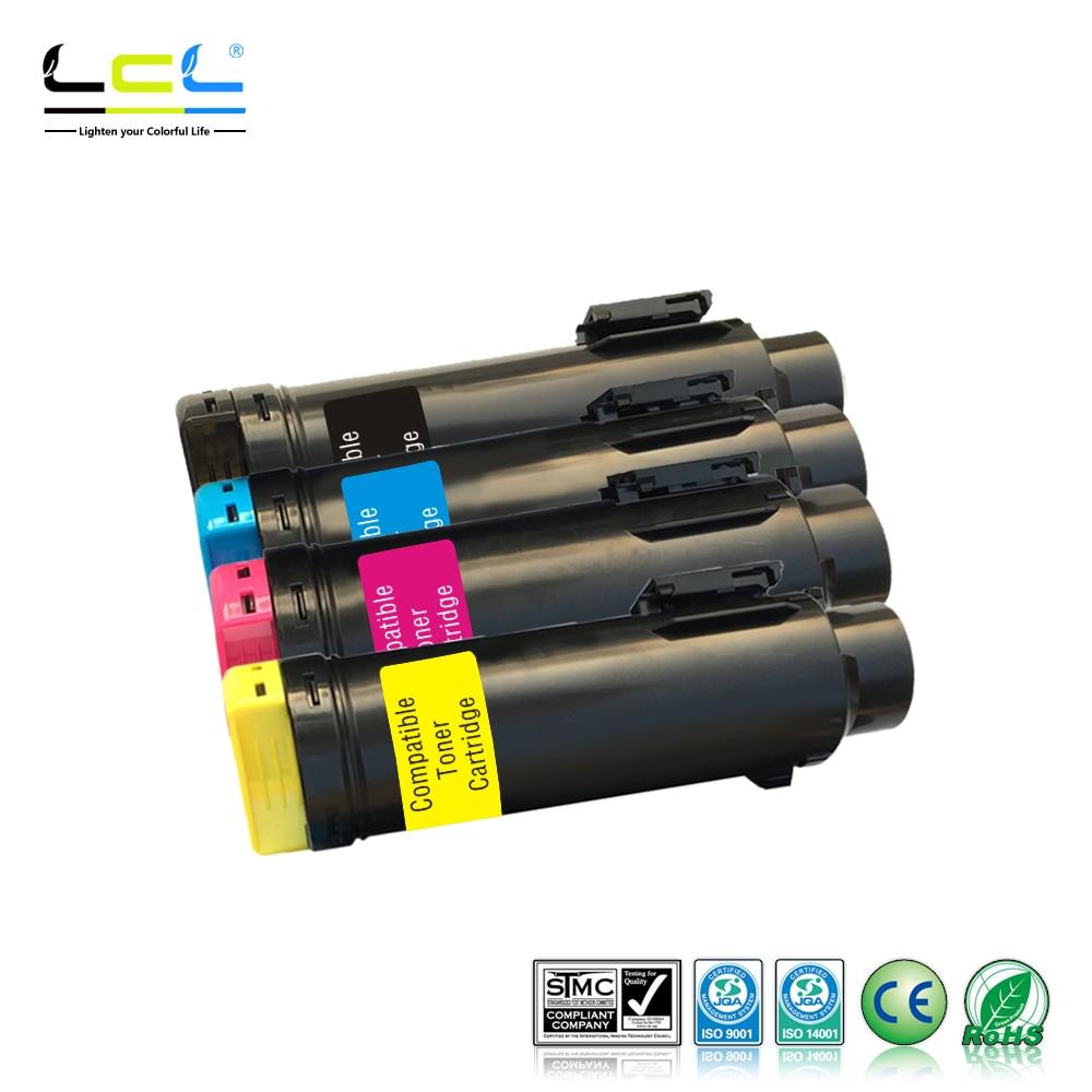 LCL H625 H825 S2825 H625cdw, H825cdw, S2825cdn 593-BBOW 593-BBOX 593-BBOY (4-Pack kcmy) toner Cartridge Compatible for Dell for lexmark cx510de toner cartridge chip kcmy set