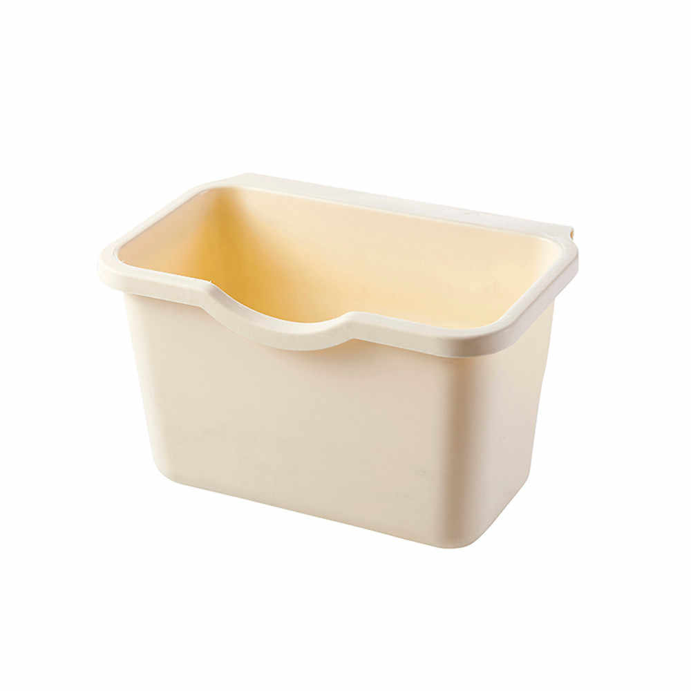Contentor de lixo Novo Porta Do Armário de Cozinha Pendurado Lixo Bin Lata de Lixo Cor Sólida TOP 21x13.5x12.5 cm abril 20