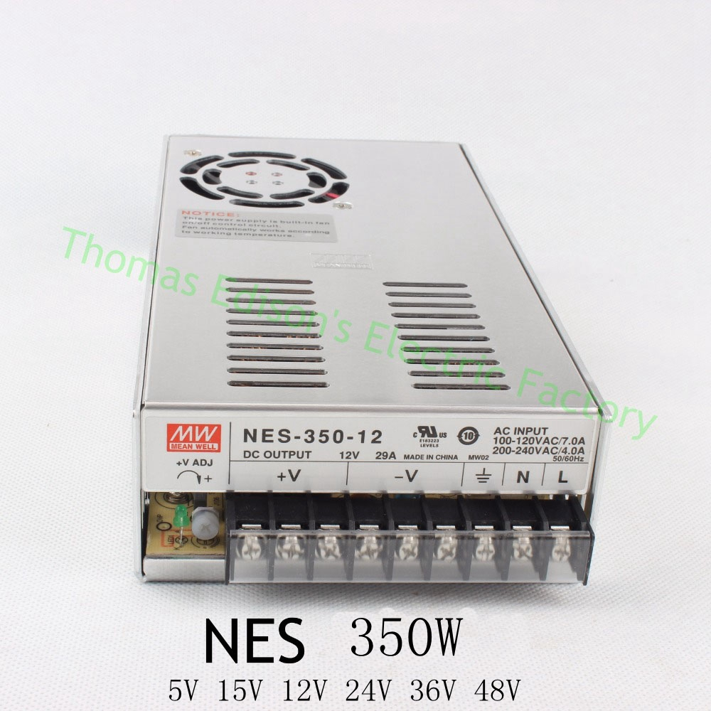 Original MEAN WELL power suply unit ac to dc power supply 350W 12V 29A 5V 60A 15V 23.2A 24V 14.6A 36V 9.7A 48V 7.3A MEANWELL original power suply unit ac to dc power supply nes 350 12 350w 12v 29a meanwell