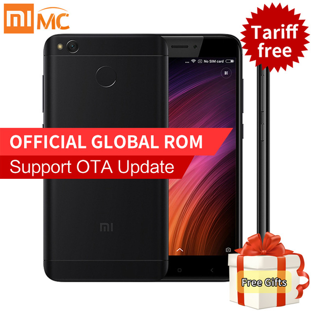 Оригинал xiaomi redmi 4x смартфон 2 ГБ ram 16 ГБ rom snapdragon 435 Octa Core MIUI 8.2 Отпечатков Пальцев 4 Г FDD LTE 13.0MP Redmi4X 4 X