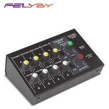 FELYBY MIX 8 Mini yankı mikser 8 kanallı taşınabilir profesyonel mikser ev K şarkı canlı kayıt ses aktif mikrofon için