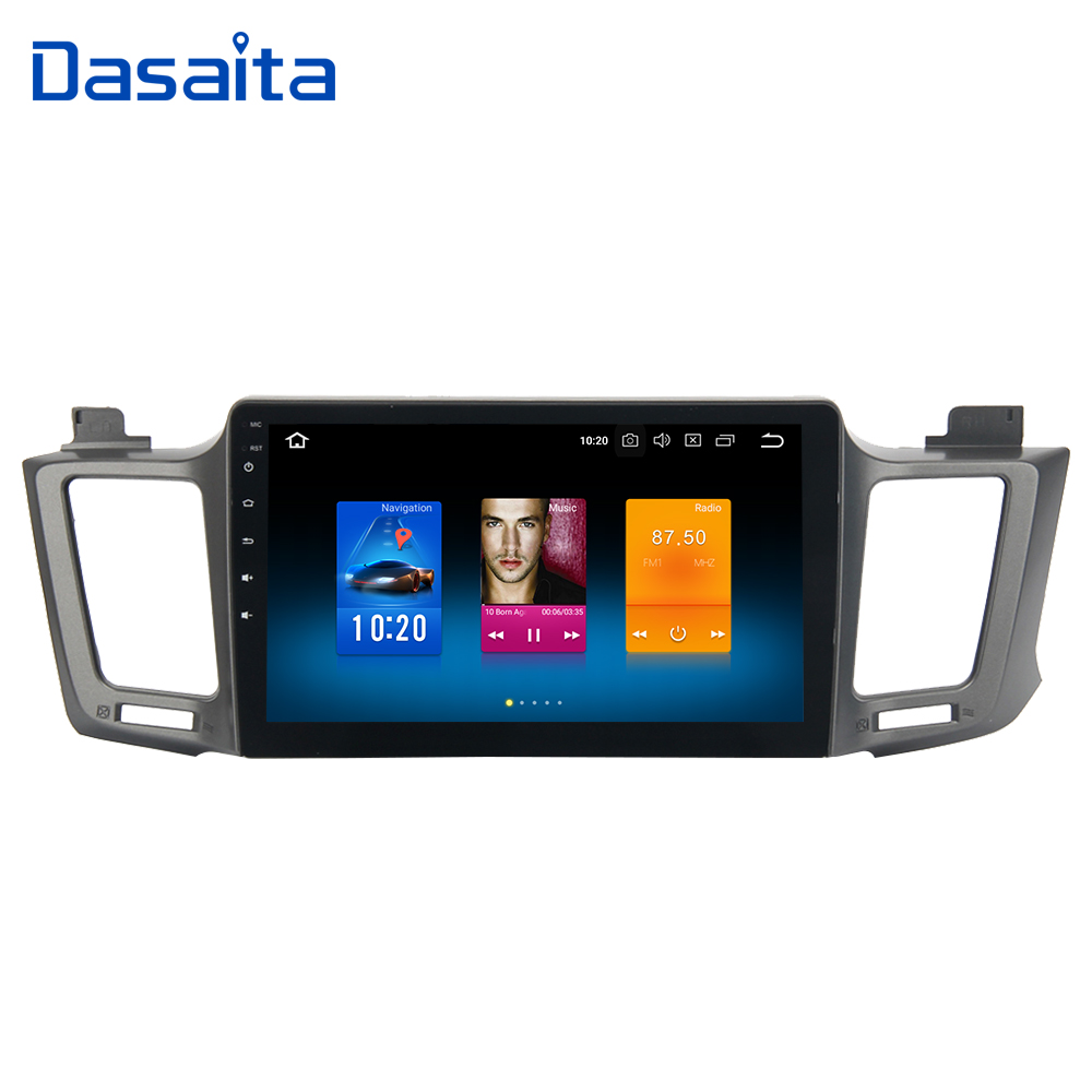 Dasaita 10.2 Android 8.0 Car GPS Radio Player for Toyota RAV4 2014 2015 2016 with Octa Core 4GB+32GB Auto Stereo Multimedia