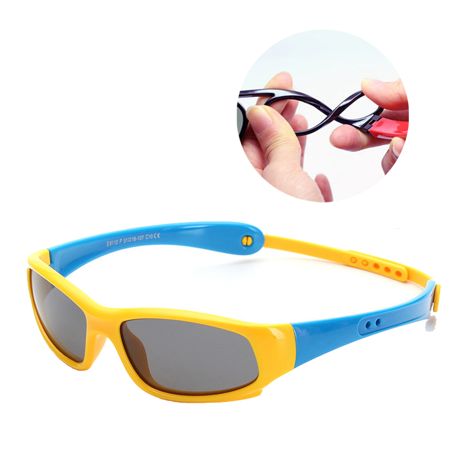 NEWBOLER Kids Polarized Sunglasses Prevention Lost Bicycle Glasses Girls Boy UV400 Protection Child Baby Safety Coating Goggles
