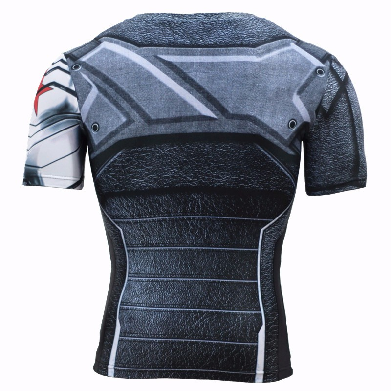 4bcc7de8102d Clothing & Accessories Men Marvel Winter Soldier Compression Long Sleeve T- Shirt Fitness Workout Tops