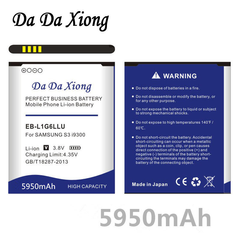 5950mAh EB-L1G6LLU EB535163LU Battery for Samsung S3 i9300 i747 i9308 i9305 i879 i9060 i9301 i9118 i9082 i535 i9300 i9308 L710