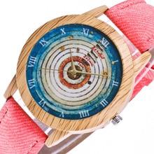 5f10c2d8d5f8 Reloj de cuarzo de mujer moda Casual anillo de árbol PU correa de cuero analógica  Q reloj de pulsera para regalo de San Valentín.