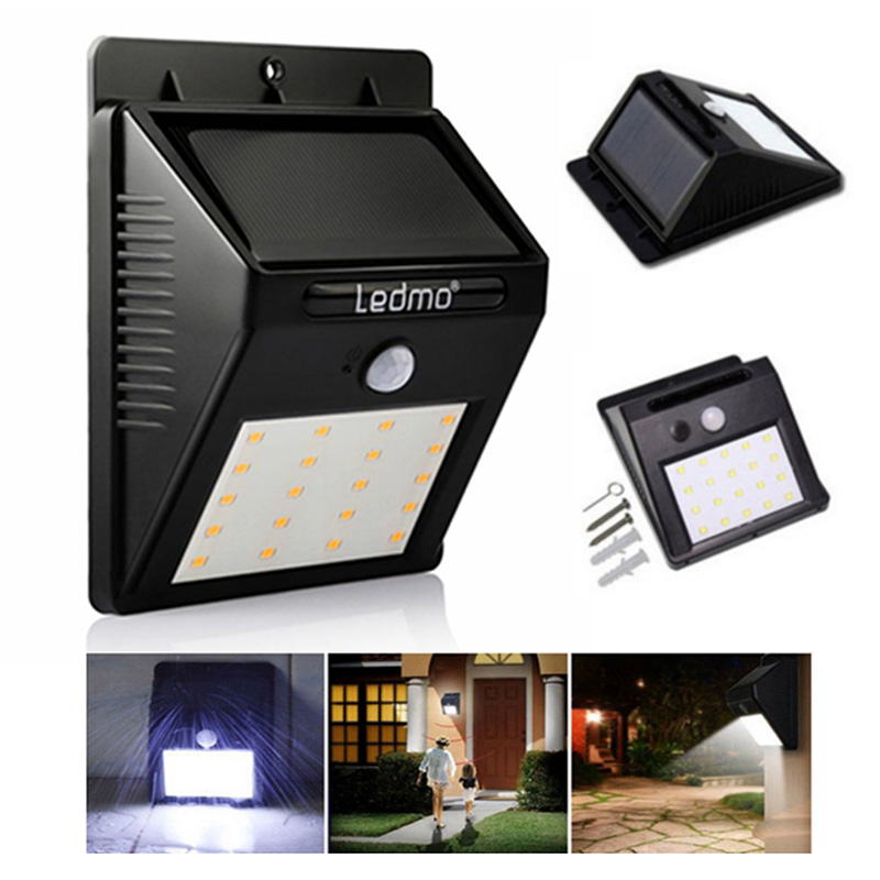 20 LED Solar Powered Solar light Outdoor Waterproof  PIR Motion Sensor Garden Decration light Fence Pathway Street Wall light