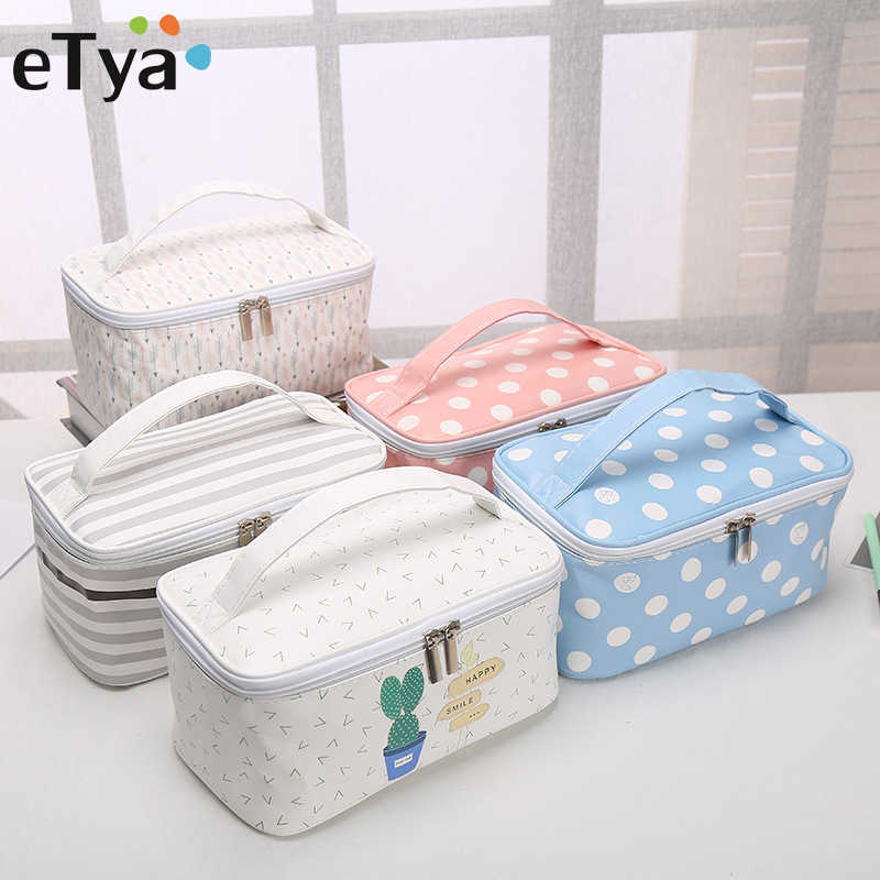 Cosmetic Bags Cactus Makeup Bag Women Travel Organizer Professional Storage Brush Necessaries Make Up Case Beauty Toiletry Bag