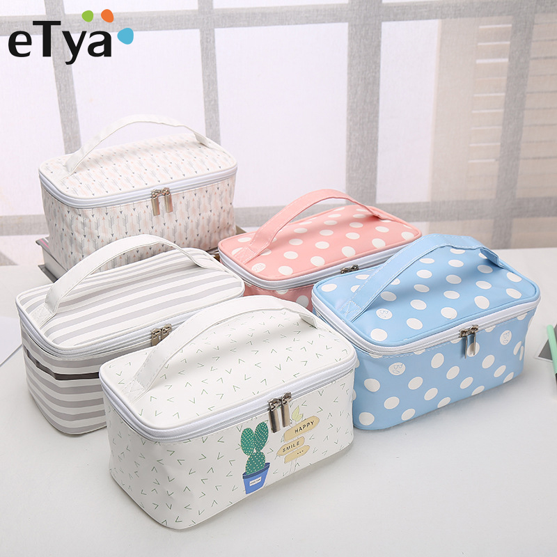 Cosmetic Bags Cactus Makeup Bag Women Travel Organizer Professional Storage Brush Necessaries Make Up Case Beauty Toiletry Bag цена