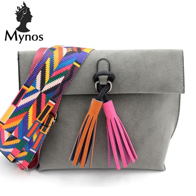 New Famous Brand Designer Tassel Leather Women Messenger Bag Vintage Crossbody Bag For Women SAC A MAIN Femme Bolsos Mujer
