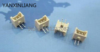 100 pcs Pitch 1.25mm 2 pin 1.25-2A Curved legs male Pin Header Strip Connector