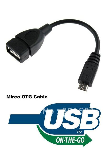Micro OTG USB Cable - USB A Female to Micro USB B 5 Pin Male Adapter cable Compatible With Mobiles And Tablets