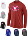 Montreal Canadiens barato Manga Larga Camisetas Big & Tall Logo Fashion Canadiens Camisetas Camisa de Algodón Del O-cuello de La Camiseta
