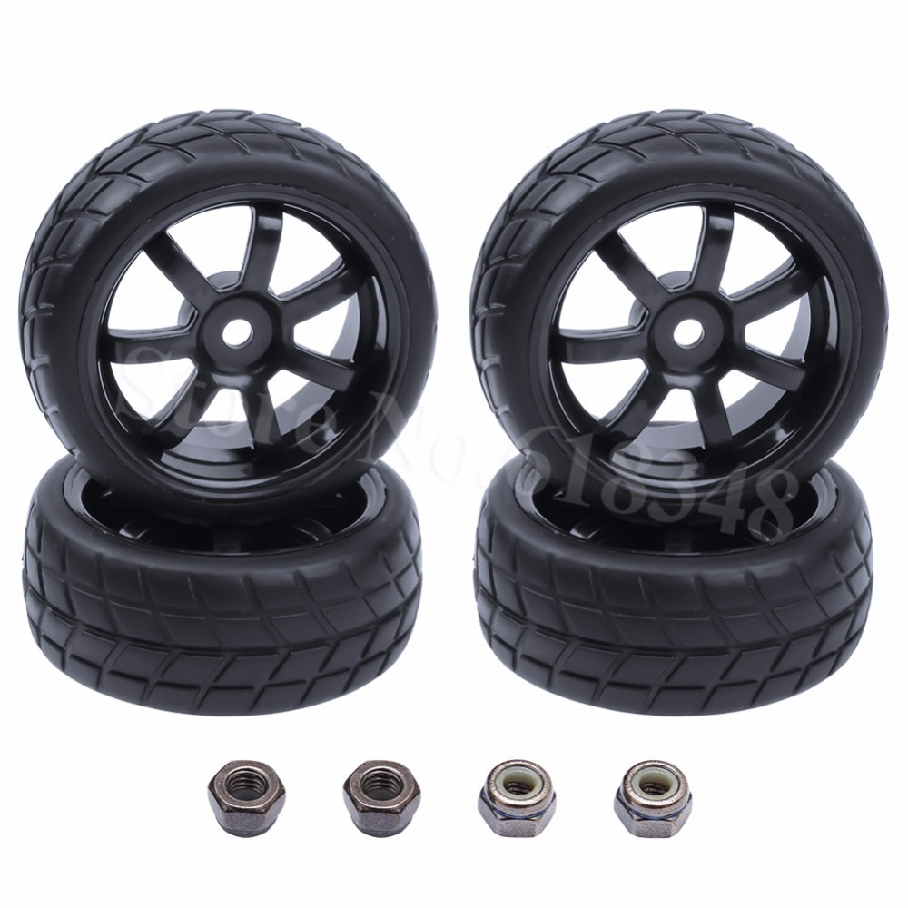 4pcs 26mm RC 1/10 Tires & Wheels Hex Mount 12mm for Remote Control On Road Touring Car Electric / Nitro Power