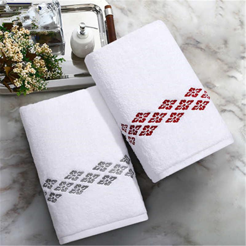 2018 cinq étoiles hôtel pur coton serviette de bain pour adultes enfants et enfants famille classique broderie doux durable serviette de bain.
