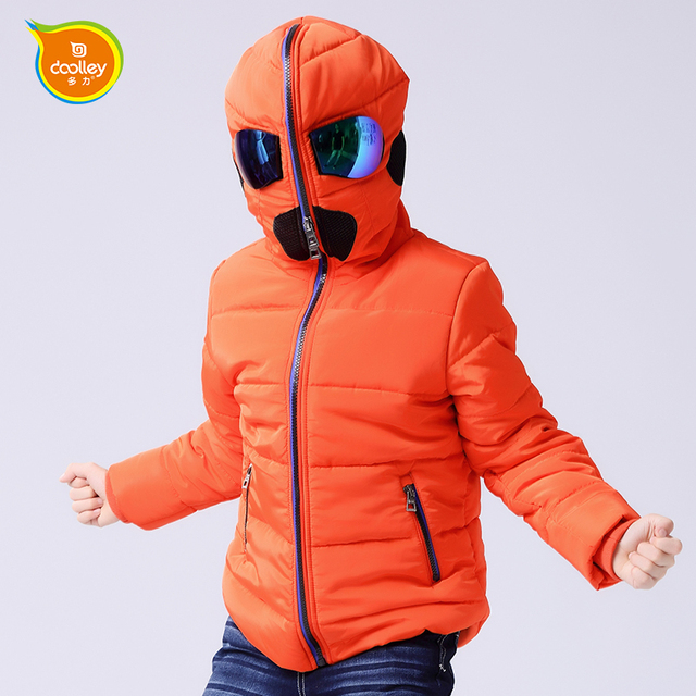 DOOLLEY Boy Fashion Altman Coats Kids Cotton Outerwear Winter Clothes Size 120-170 cm Christmas / New Year Clothing For Children