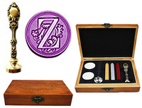 Vintage Luxury Letter Z Alphabet Initial Engraved Wedding Invitation Wax Seal Sealing Stamp Brass Peacock Metal